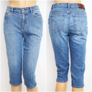 Ralph Lauren High Rise Denim Capri Jeans S